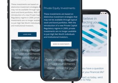 Drake Wellington Website Design