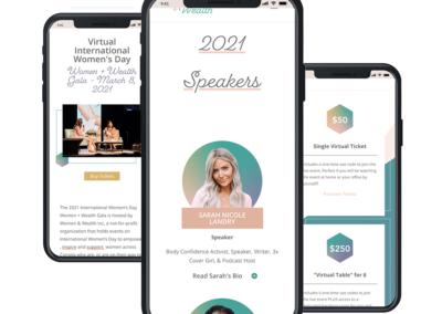 Women + Wealth Website Design